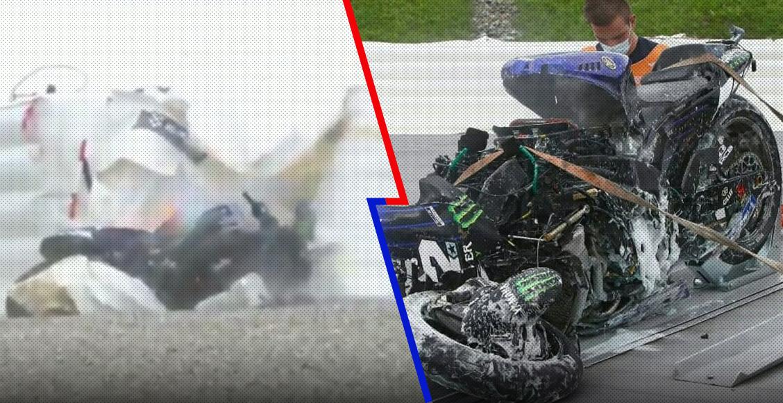 ¡Mortal! Piloto saltó de su moto a 230 km/h tras quedarse sin frenos