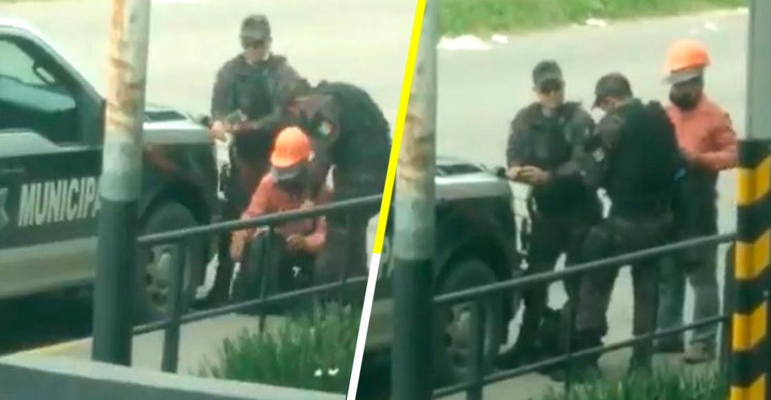 Captan a policías de Tlaquepaque robándole dinero a un trabajador