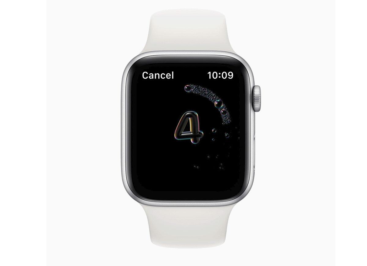 Apple Watch incorpora lavado de manos