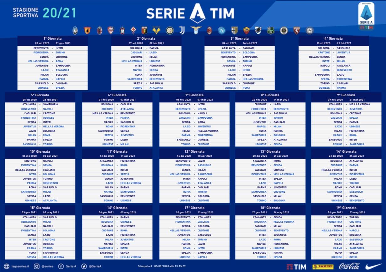 El calendario de la Serie A 2020 2021   Sopitas.com