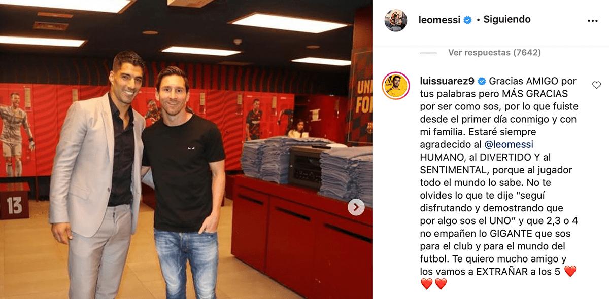 ¡Puuuum! Luis Suárez le respondió a Messi con otro recadito para el Barcelona