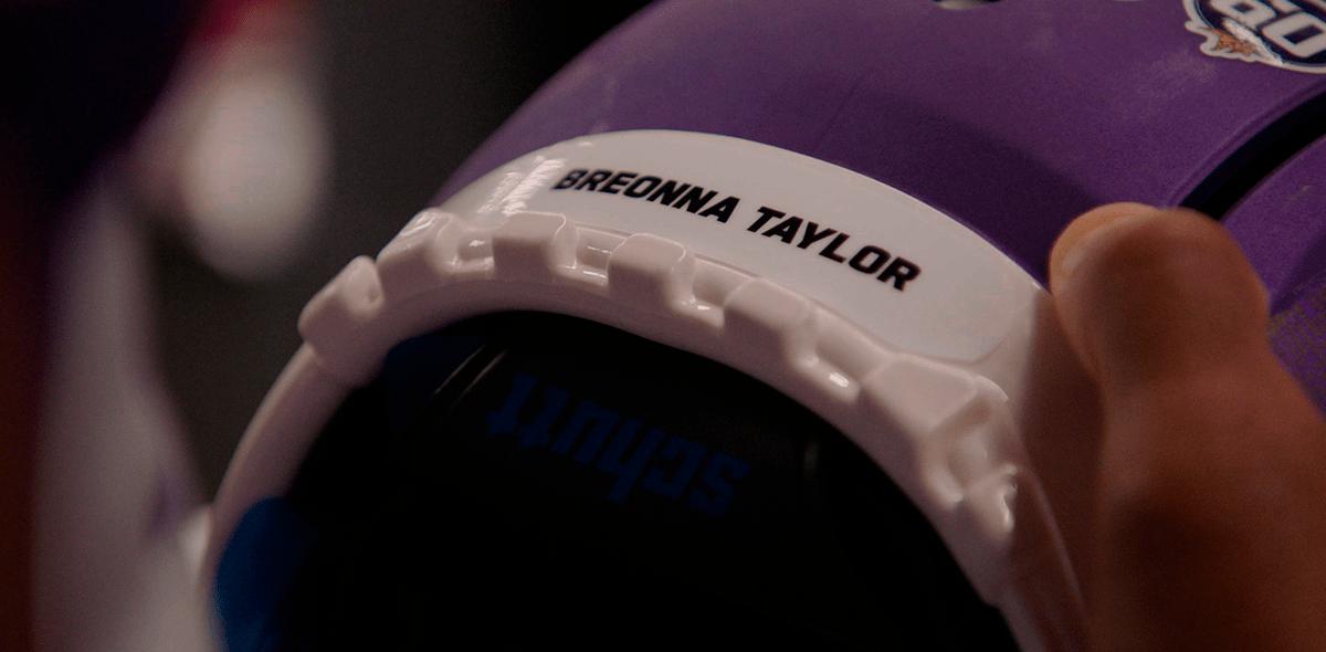 Los cascos que usarán los jugadores de los Vikings