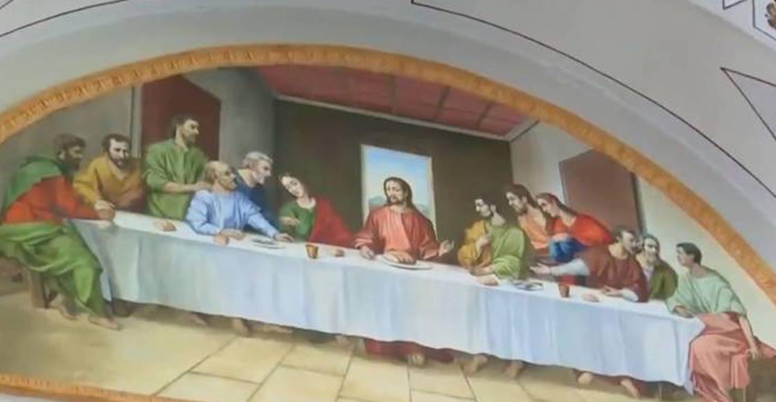 Ultima-cena-sacerdote-puebla-alterada-pinta-cara-san-nicolas-falsa