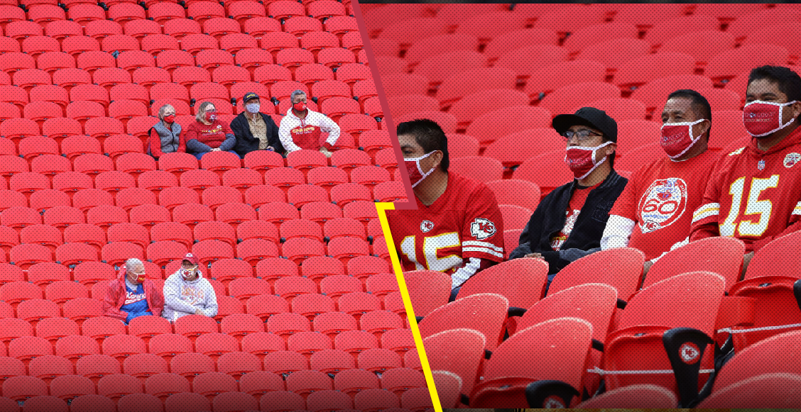 En imágenes: Aficionados presentes en el estadio de los Chiefs en el kickoff de la NFL