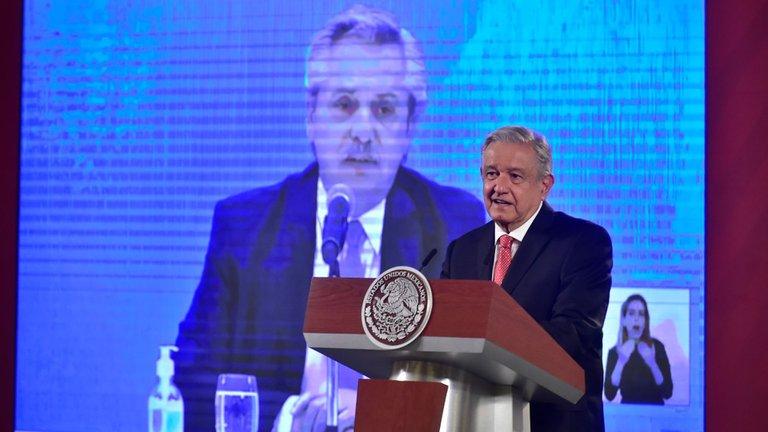 AMLO y presidente de Argentina