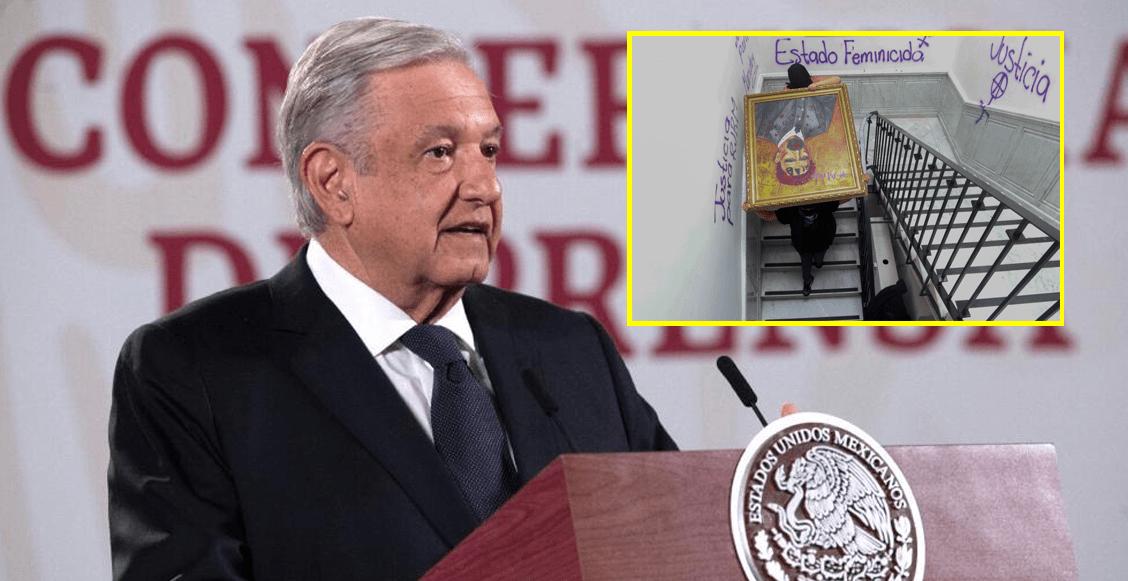 amlo-defiende-pintura-madero-protestas-victimas-cndh-mujeres-video
