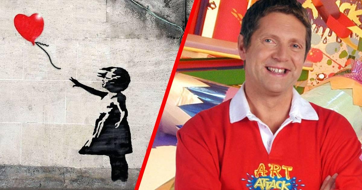 Internautas creen que Neil Buchanan de Art Attack es Banksy