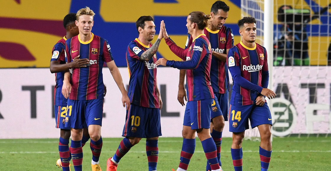 Doblete de Ansu Fati, penal de Messi y goleada en la presentación del Barcelona de Koeman