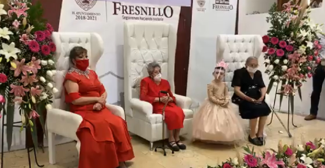 """Coronan en Zacatecas a la """"Reina de los Abuelos 2020"""" pese a la pandemia"""