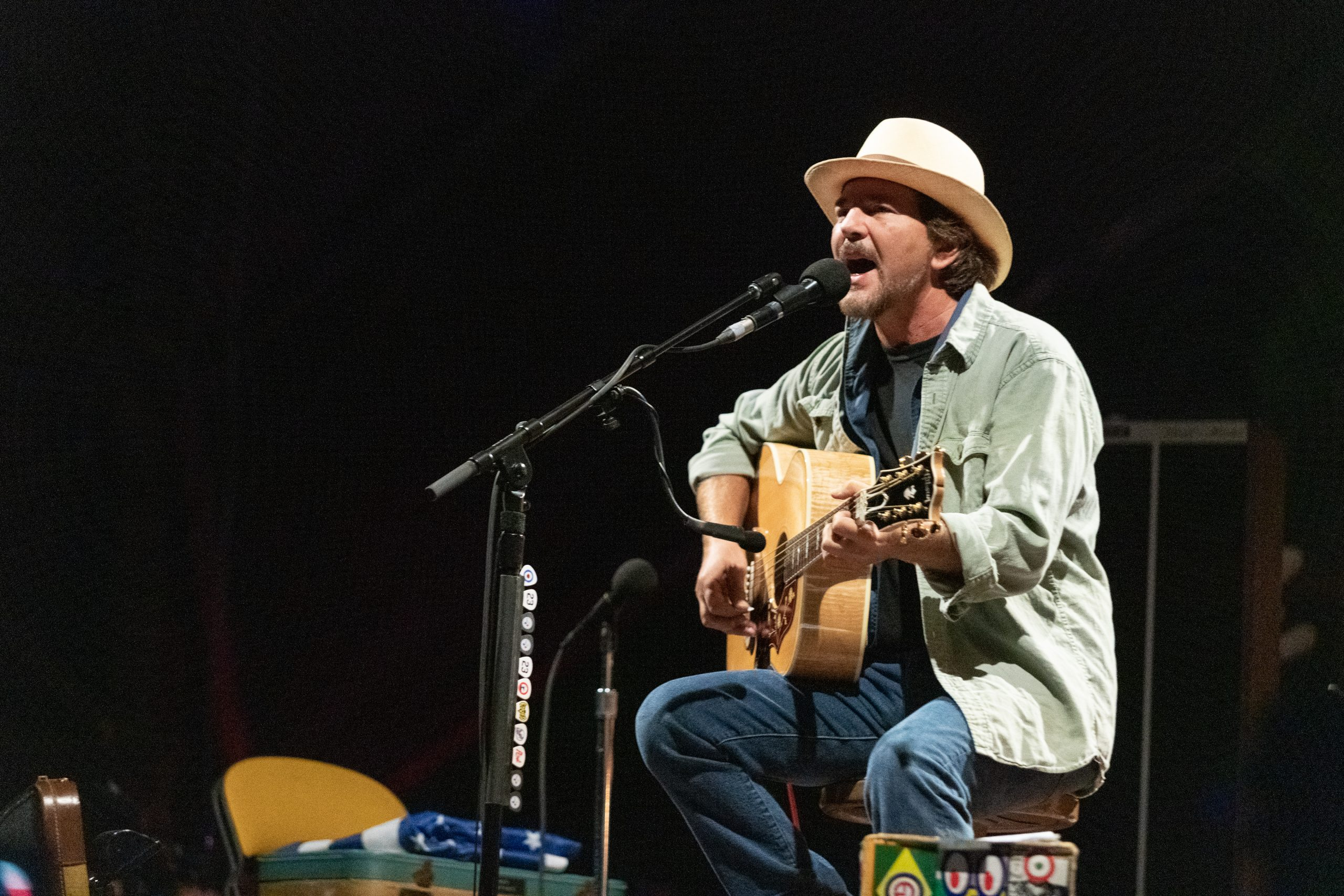 Eddie Vedder releases a solo song called