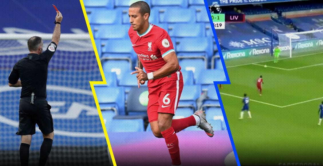 La expulsión, el debut de Thiago y el fin de la racha: Lo que nos dejó el Chelsea vs Liverpool