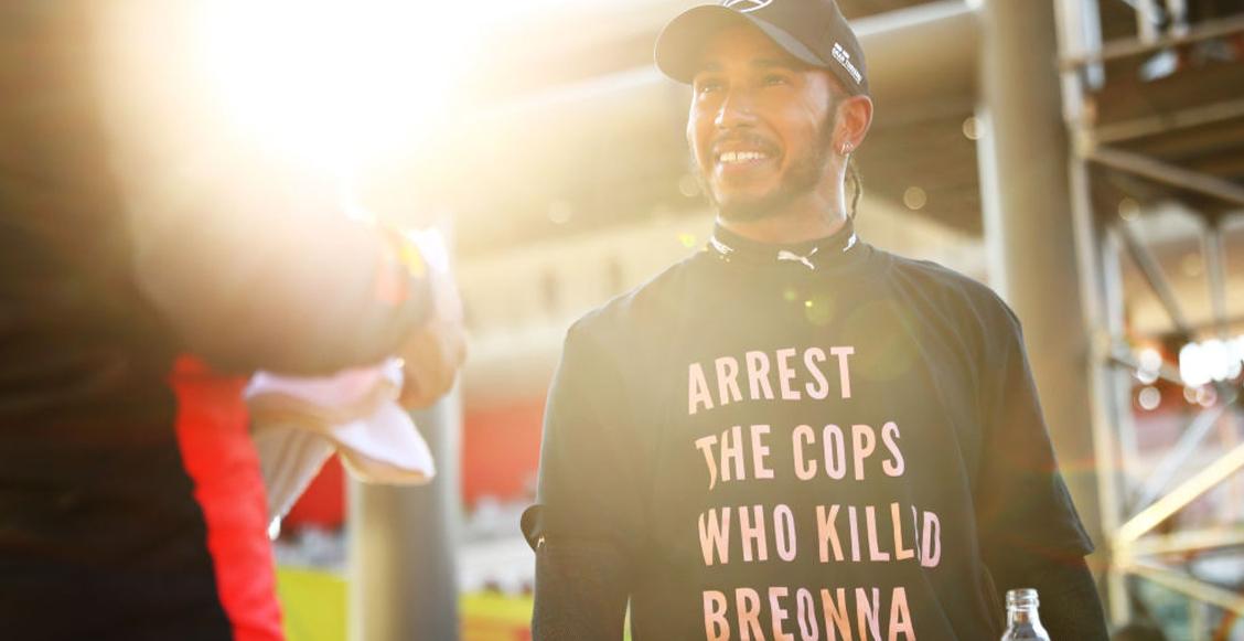 FIA abrió investigación contra Hamilton por utilizar una camiseta pidiendo justicia para Breonna Taylor