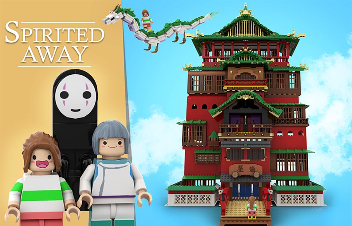 ¡Llévense todo mi dinero! LEGO podría lanzar un set de 'El viaje de Chihiro' de Studio Ghibli