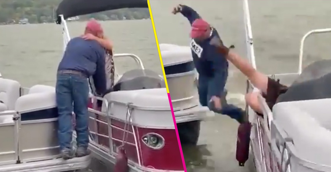 ¡Bajan!: Hombre cae al agua mientras le propone matrimonio a su novia
