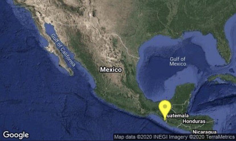 19 de septiembre: Se registran sismos de magnitud 4.6 en Chiapas y Los Ángeles