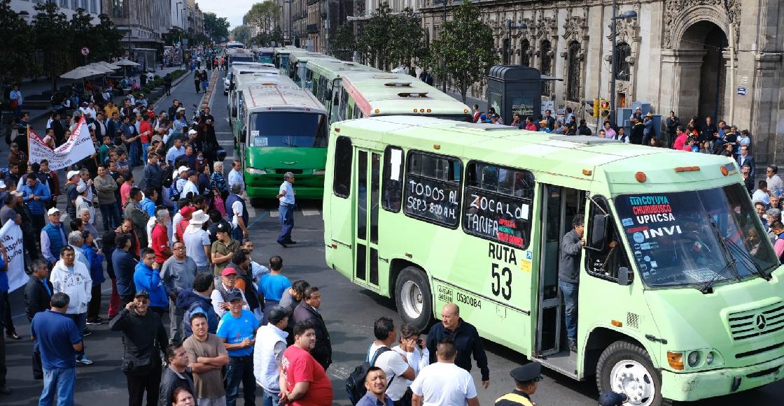 Transportistas suspenden movilizaciones programadas para el jueves 17 en la CDMX
