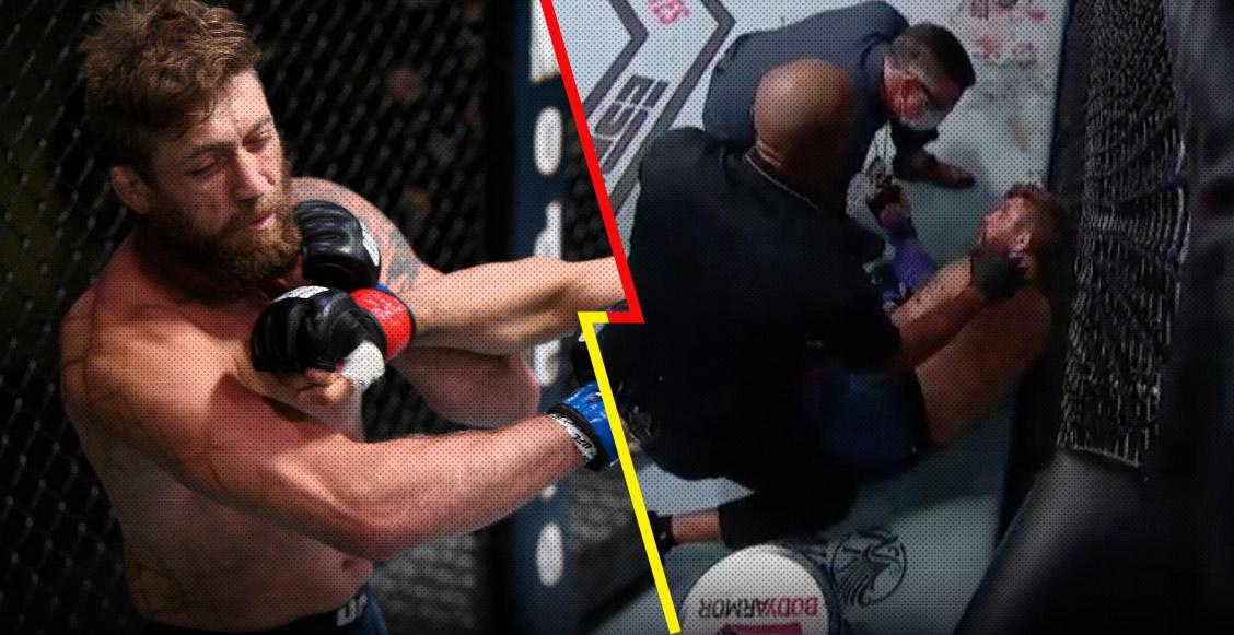 ¡Ni el 'Canelo'! Peleador de la UFC noqueó a su rival en sólo 17 segundos