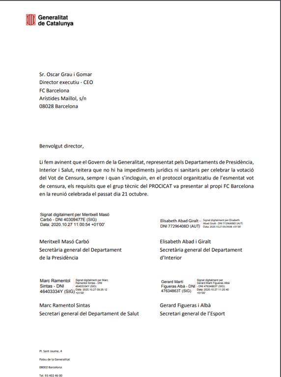 ¡Rechazado! La moción de censura contra Bartomeu sí se llevará a cabo