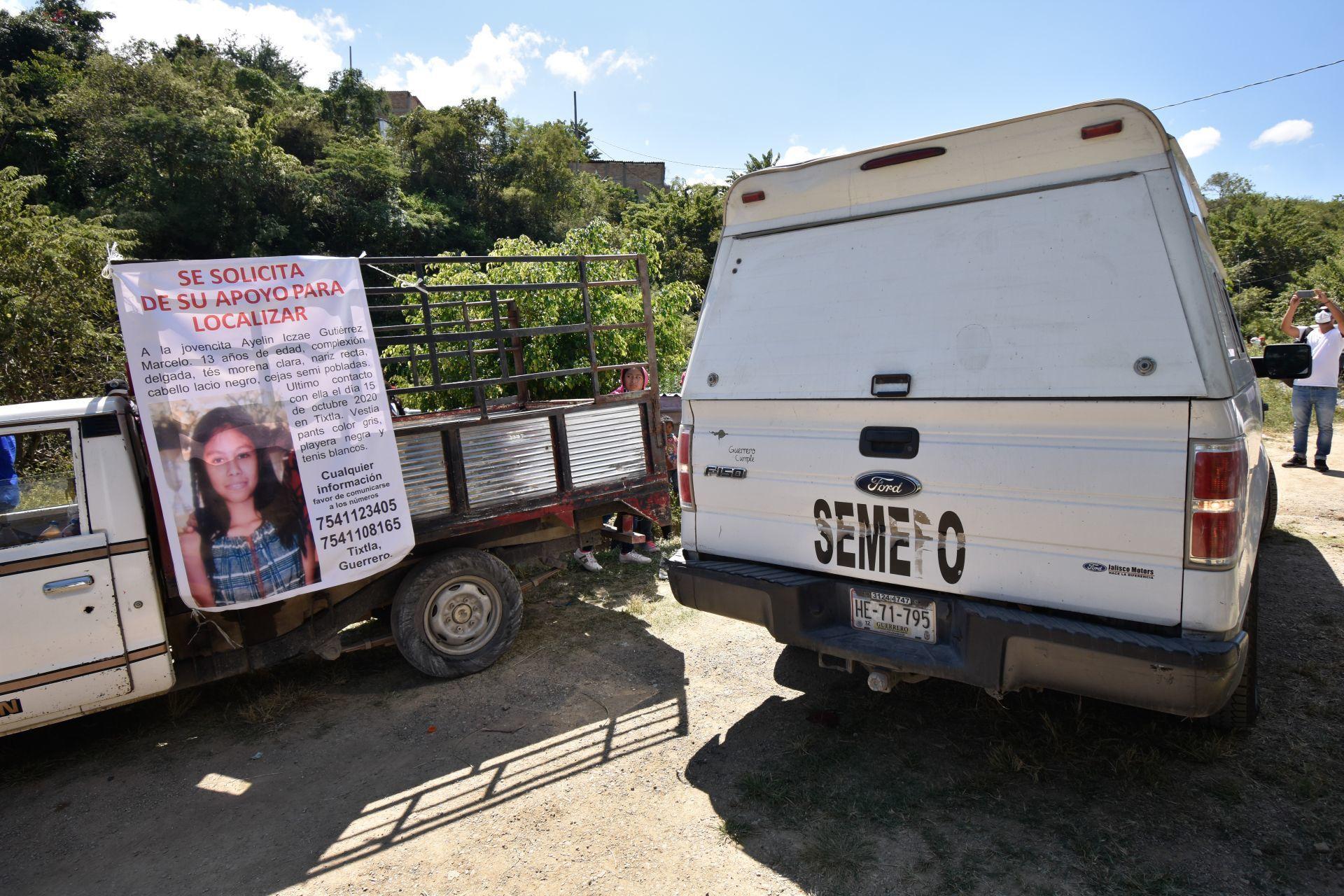 Sin vida y mutilada en una barranca de la colonia 6 de noviembre, localizan el cuerpo de Ayelin Iczae Gutiérrez Marcelo, de 13 años, quien desapareció el pasado jueves 15 de octubre en la cabecera municipal de Tixtla, ubicada a menos de 15 kilómetros de la capital del estado de Guerrero.
