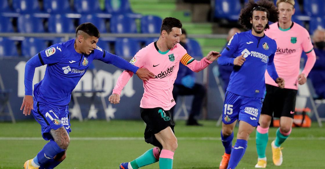 Barcelona imita al Real Madrid, de rosa y con derrota, ante el Getafe