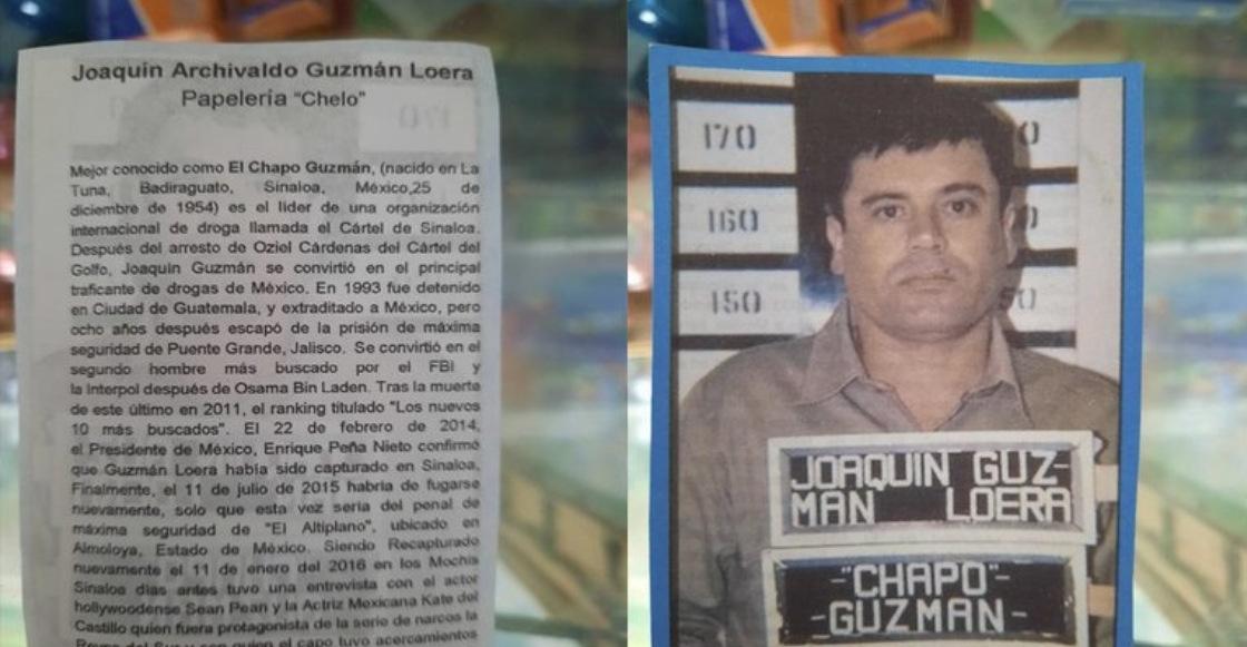 México mágico: 'El Chapo' Guzmán ya tiene su propia monografía escolar