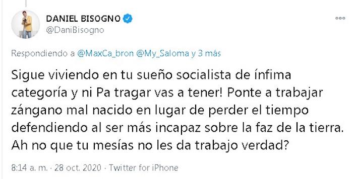 """""""P*nche jodido muerto de hambre"""": Daniel Bisogno insulta a seguidores de AMLO"""