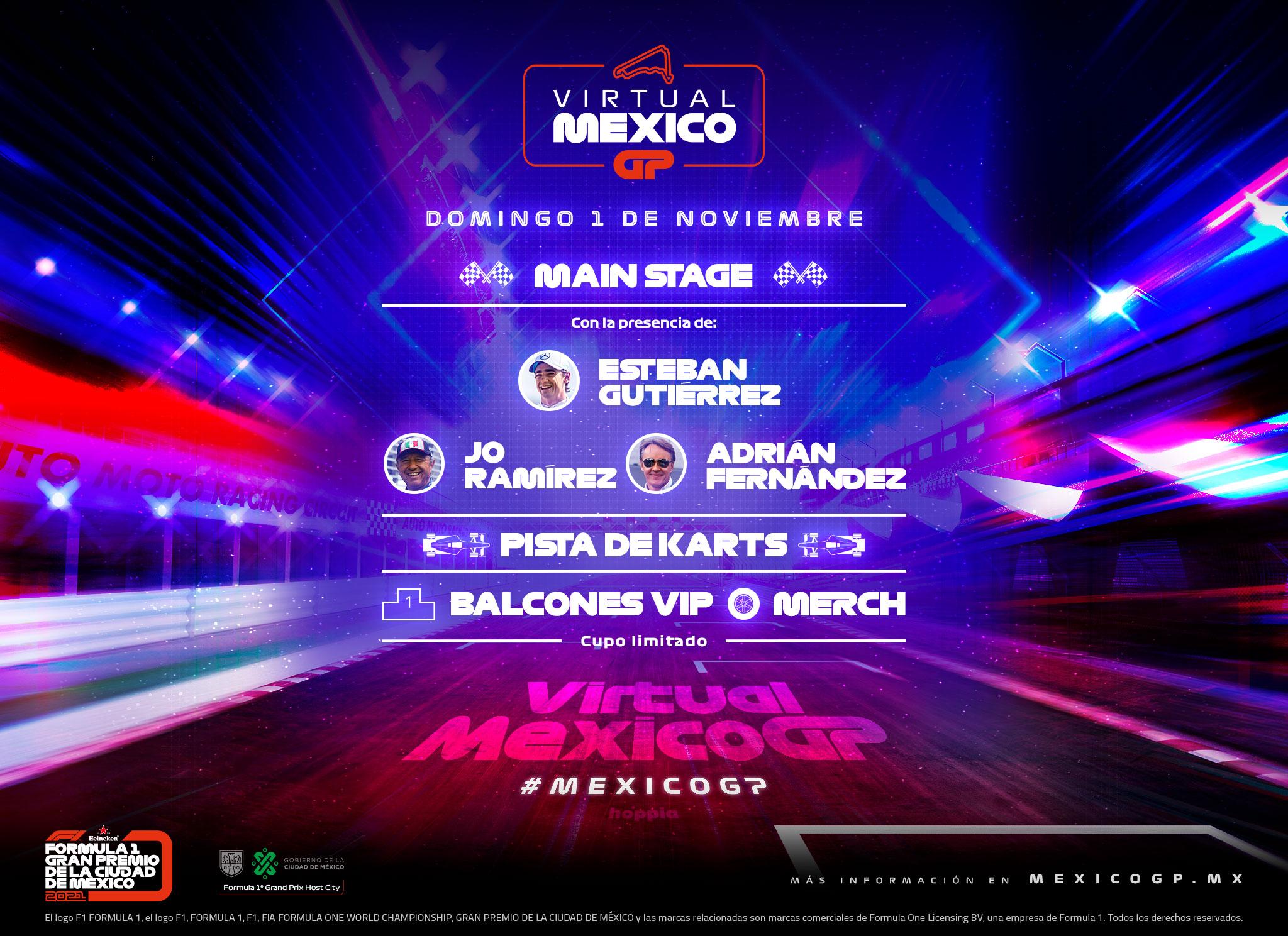 Virtual MexicoGP: El evento de la Fórmula 1 que suplirá el Gran Premio de México