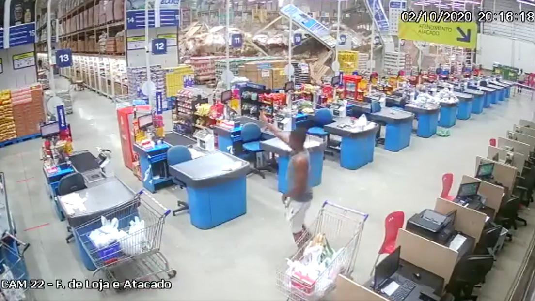 Estantes de un supermercado se derrumban y dejan un muerto y ocho heridos