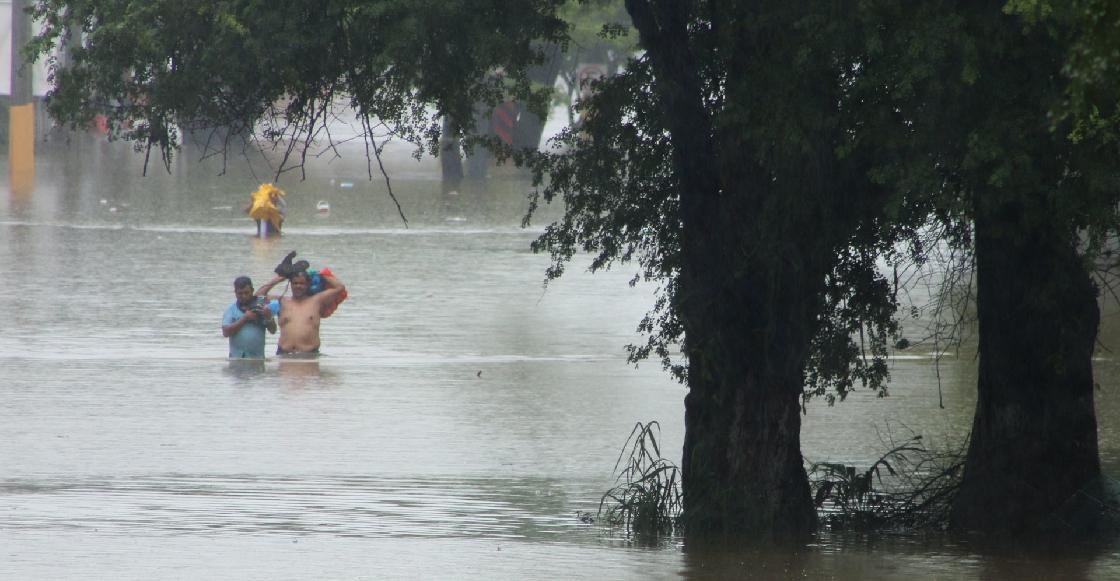 En imágenes: Las inundaciones en Tabasco tras las lluvias por el frente frío No. 9