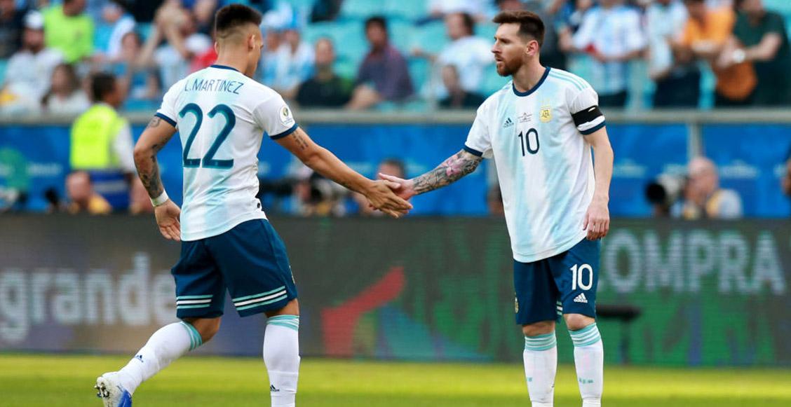 """Lautaro Martínez llenó de halagos a Lionel Messi: """"Él es el mejor del mundo"""""""