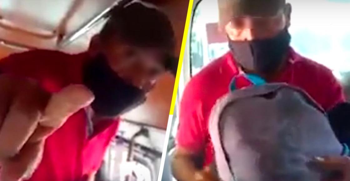 """""""No me grabes"""": Mujer capta a un hombre masturbándose en la combi y éste la agrede"""