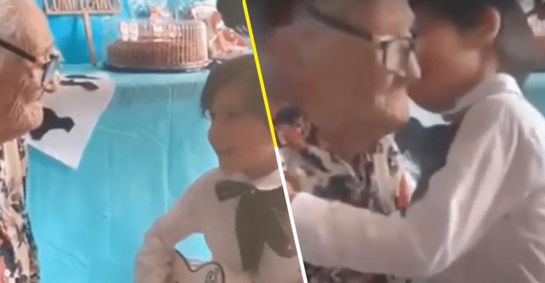 """Como en la película: Niño le lleva serenata a su bisabuelita y le canta """"Recuérdame"""" de 'Coco'"""