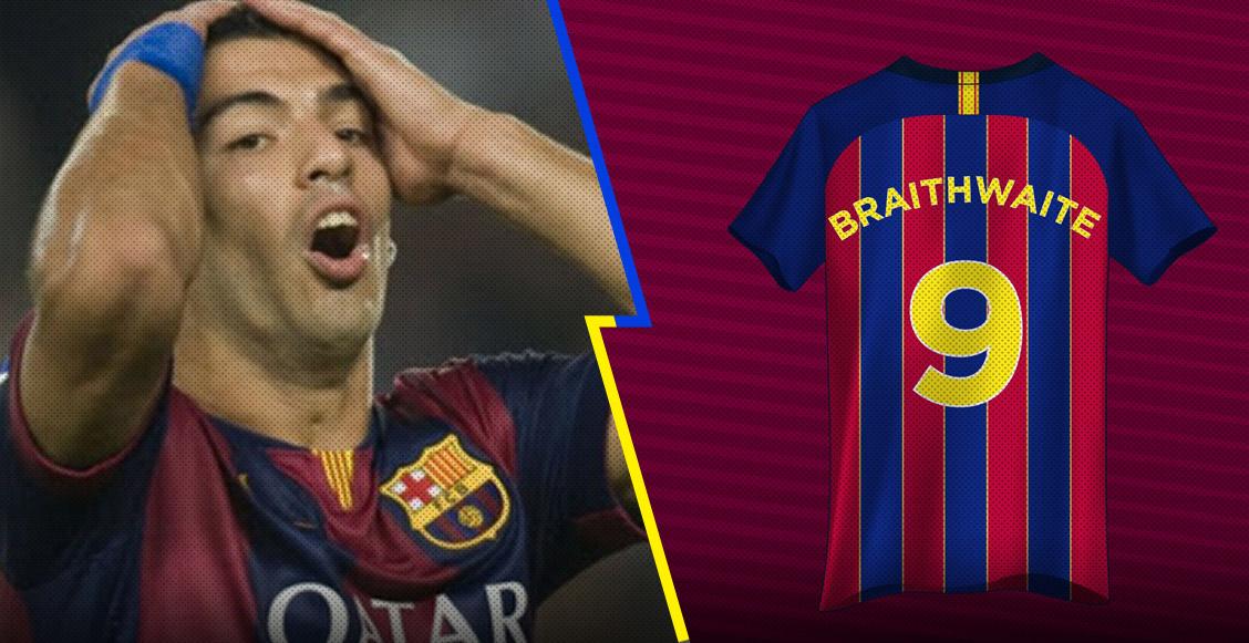 Braithwaite 'heredó' el '9' de Luis Suárez y los fans acabaron al Barcelona