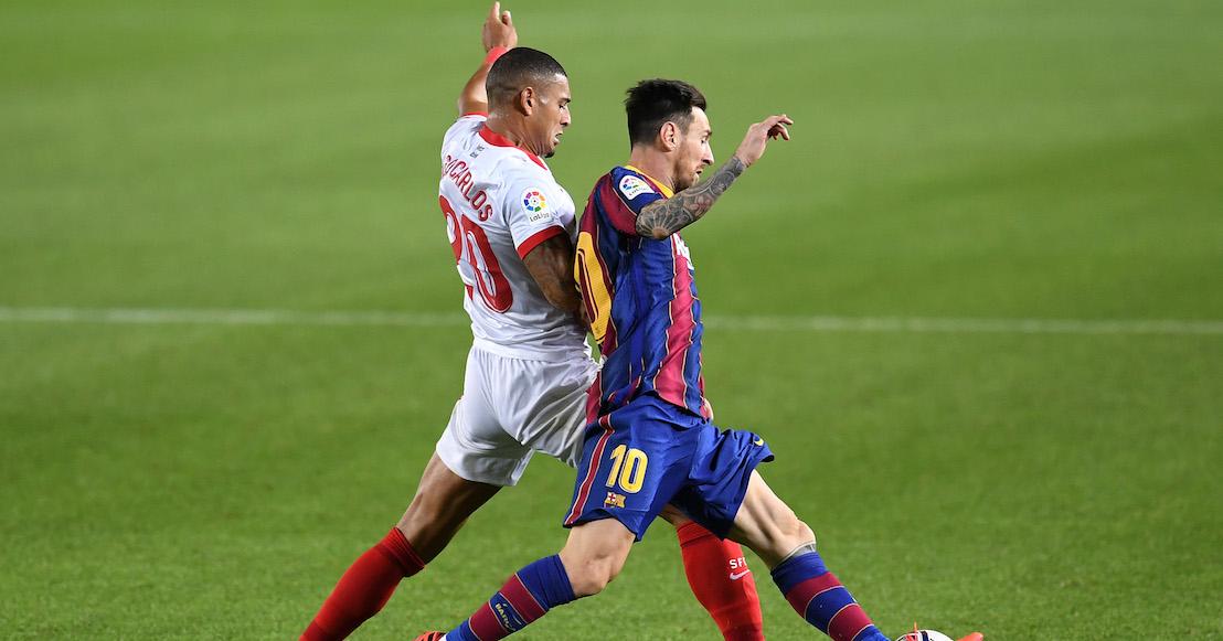 Sevilla le pone freno al Barcelona, que debutó a Sergiño Dest