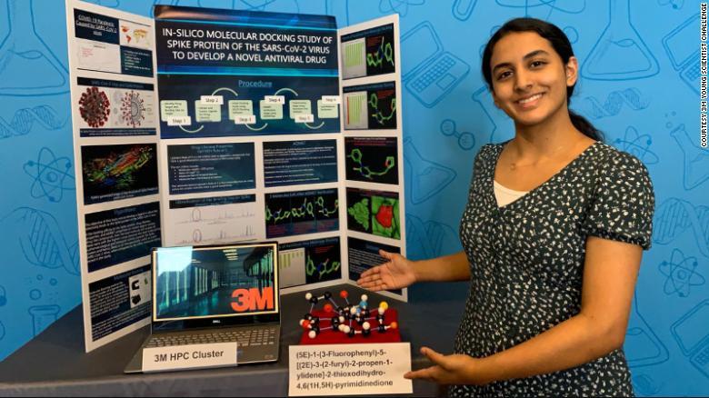 young scientist Anika Chebrolu COVID 1