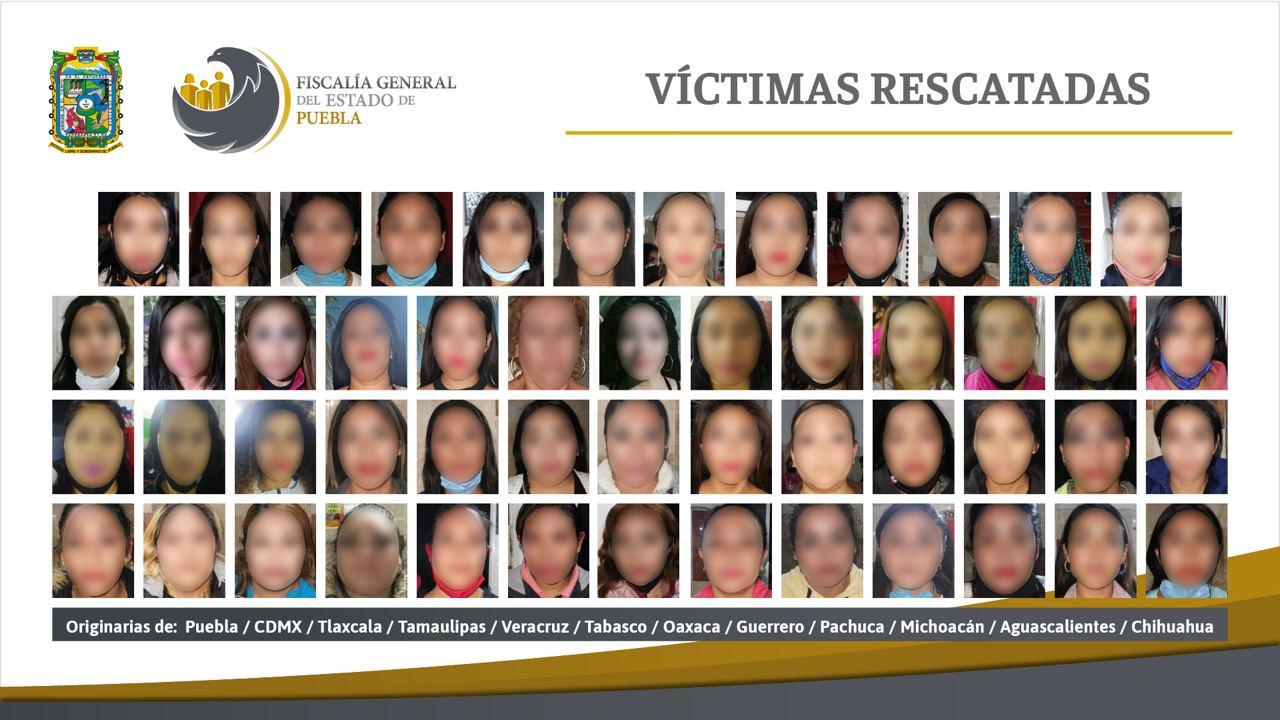 74 Mujeres rescatadas Puebla