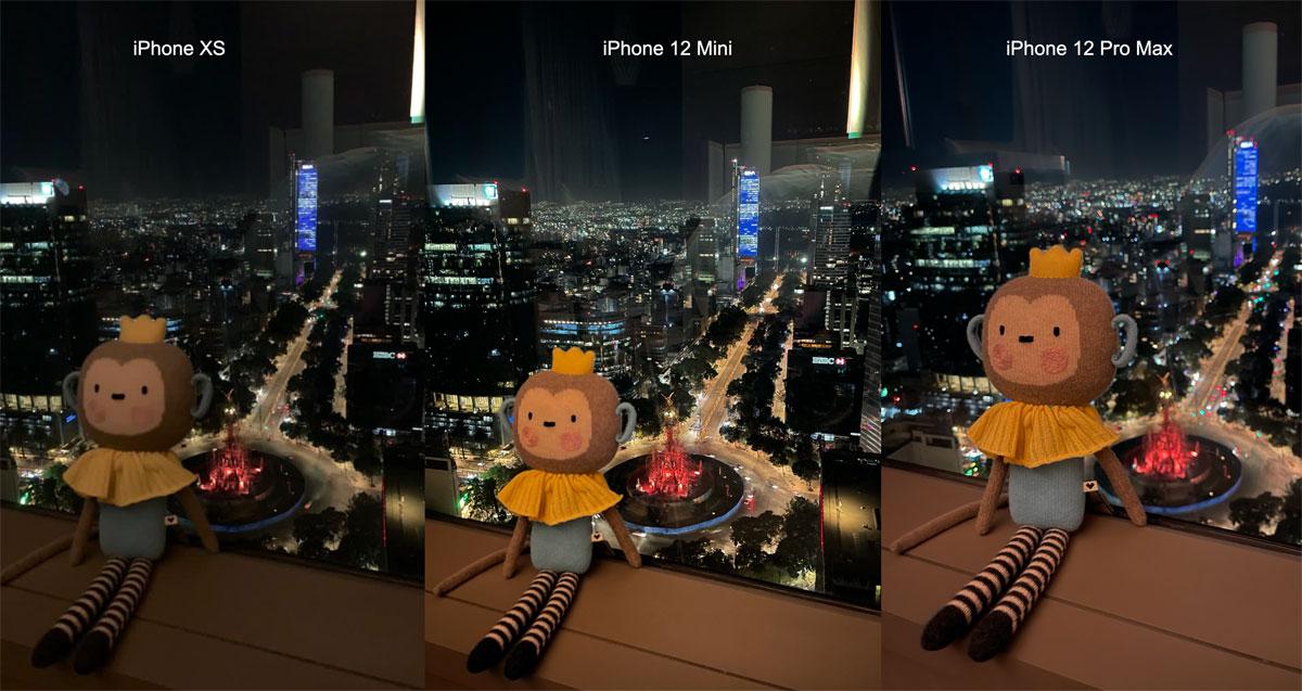 Comparación de cámaras iPhone 12 en Oscuridad