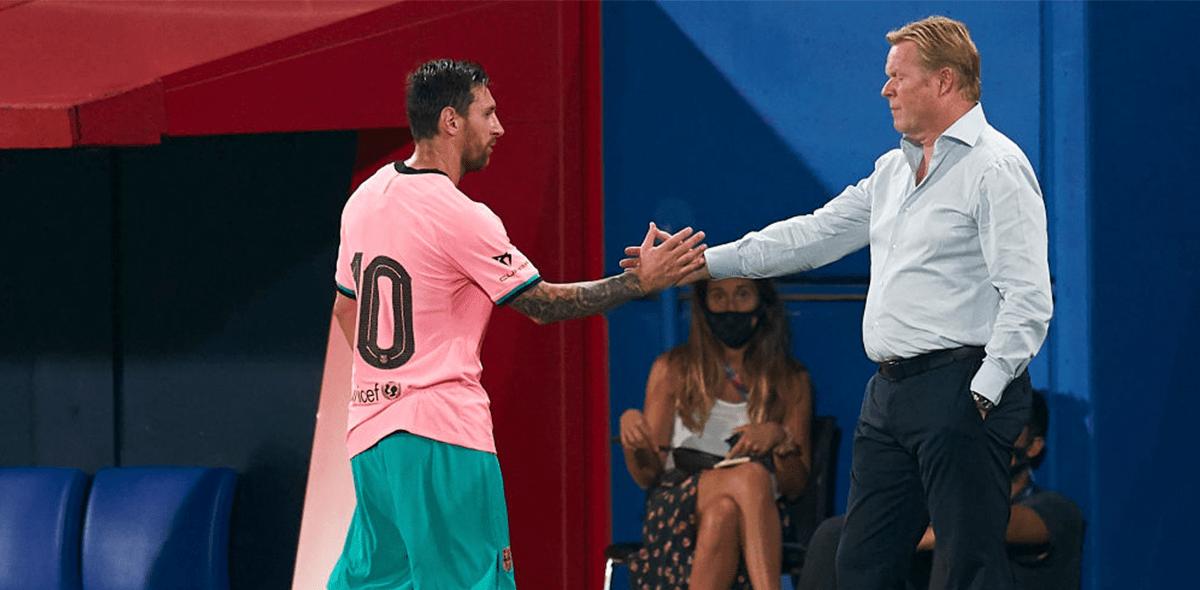 """Koeman defendió a Messi tras la imagen del argentino """"caminando"""" en la cancha"""