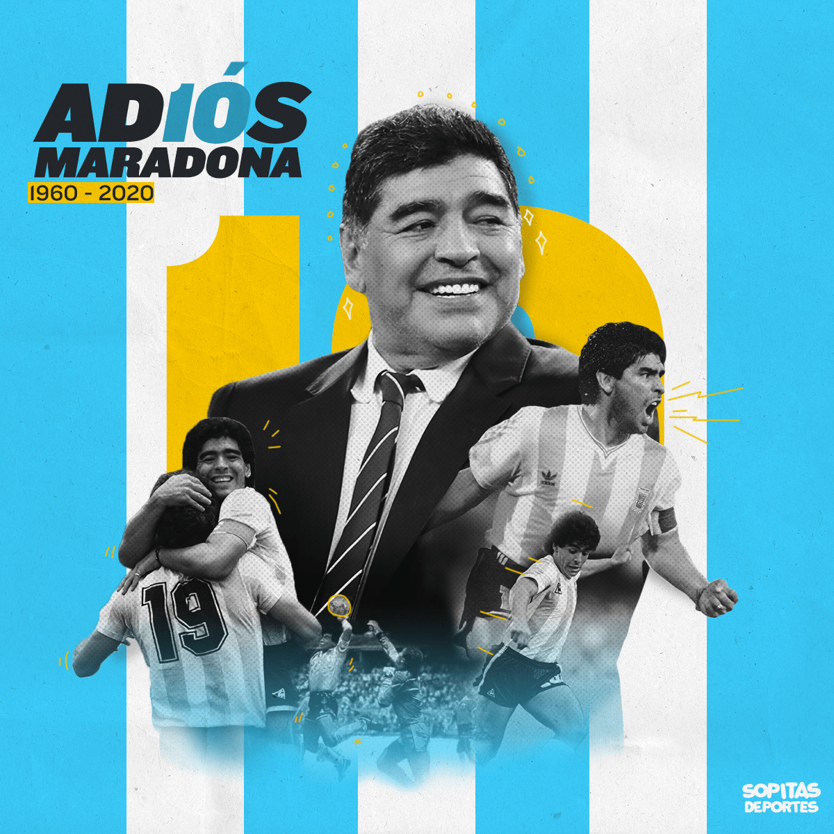 Así reaccionó el mundo a la muerte de Diego Armando Maradona