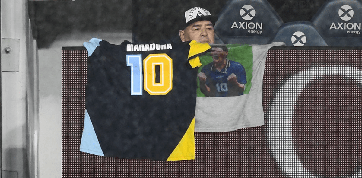 """""""De corazón"""": El mensaje de apoyo de Messi a Maradona tras operación"""