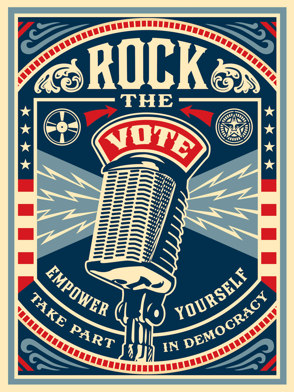 Poster Rock The Vote creado por Obey