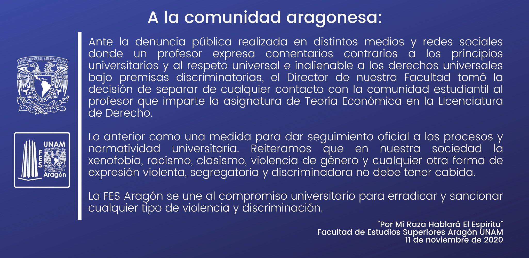 UNAM FES profesor campos de concentracion