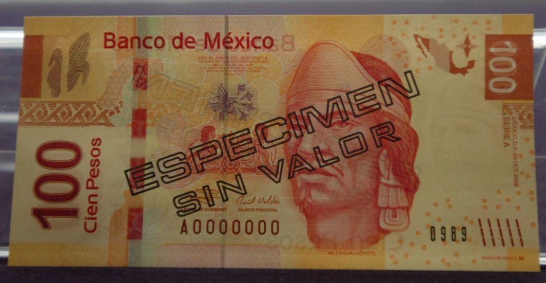 billete-cien-pesos-nezahualcoyotl