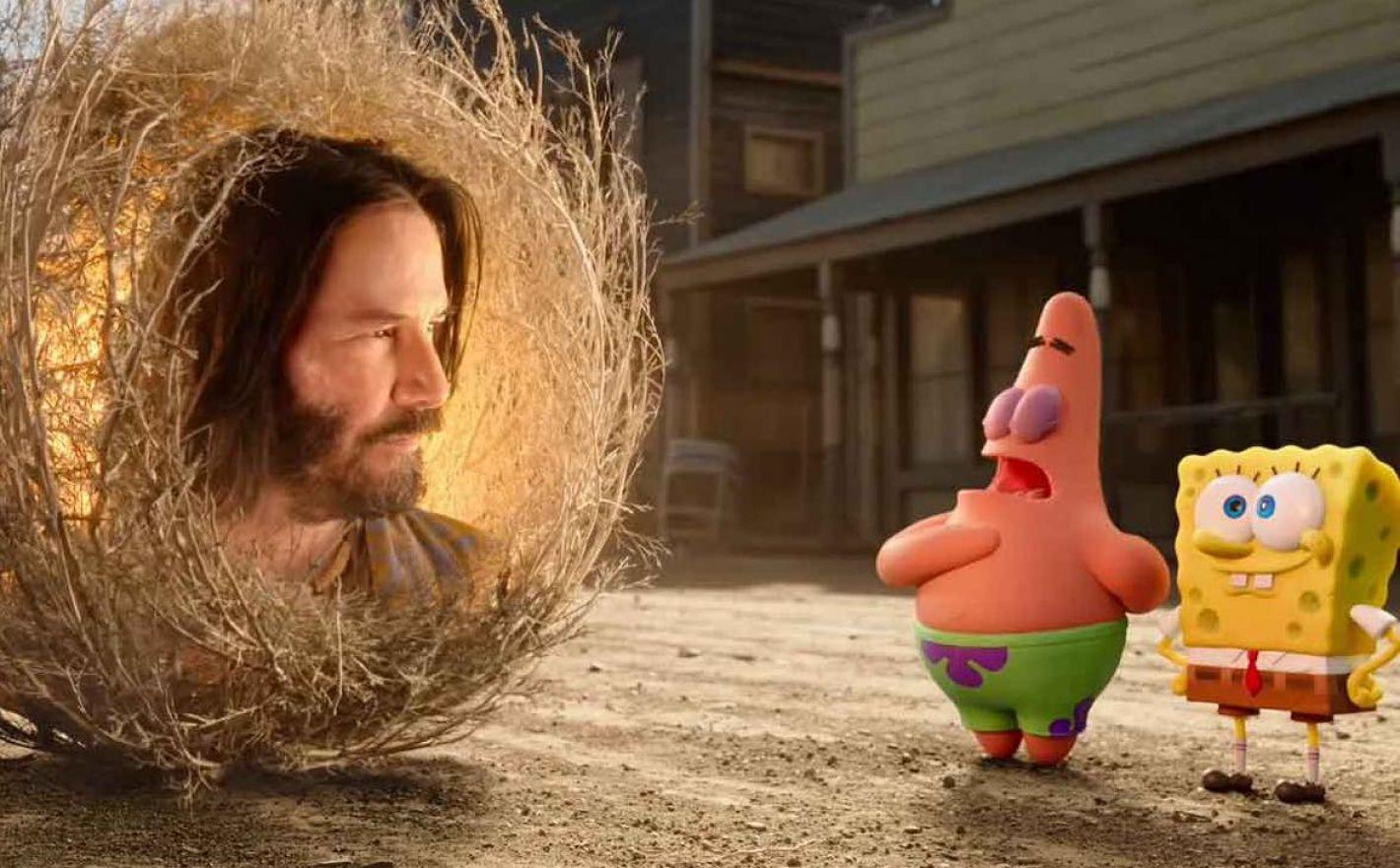 Keanu Reeves, nostalgia y la música: Lo bueno y lo malo de 'Bob Esponja: Al Rescate'