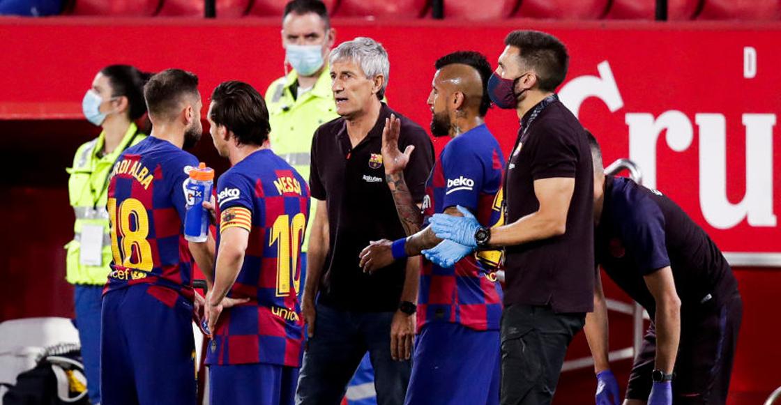 Revelaron detalles de la polémica pelea entre Lionel Messi y Quique Setién