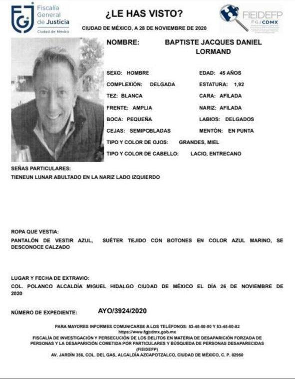 Empresario francés es encontrado sin vida en carretera la alcaldía Tlalpan