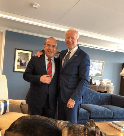 Felipe Calderón felicitó a Joe Biden por su virtual victoria