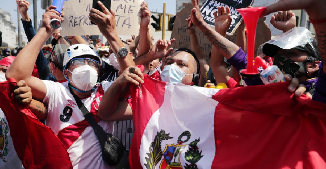 Los festejos en Pe´ru por la renuncia de Manuel Merino