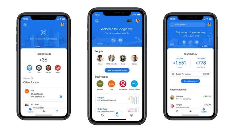 Google Pay se convierte en banca digital compitiendo con Paypal
