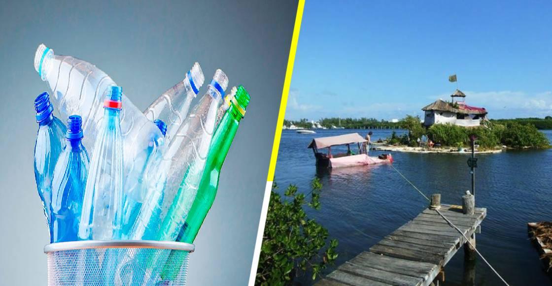 'Isla Joysxee': El paraíso de Cancún construido con 150 mil botellas de plástico